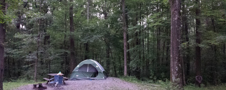 Our 'home'=tent for 2 nights